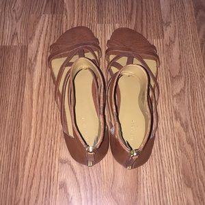 Brown Nine West gladiator sandals size 11
